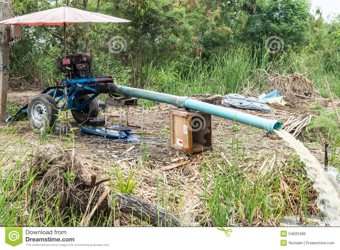 Pump water stock photo image 54620480 for Rice pump and motor