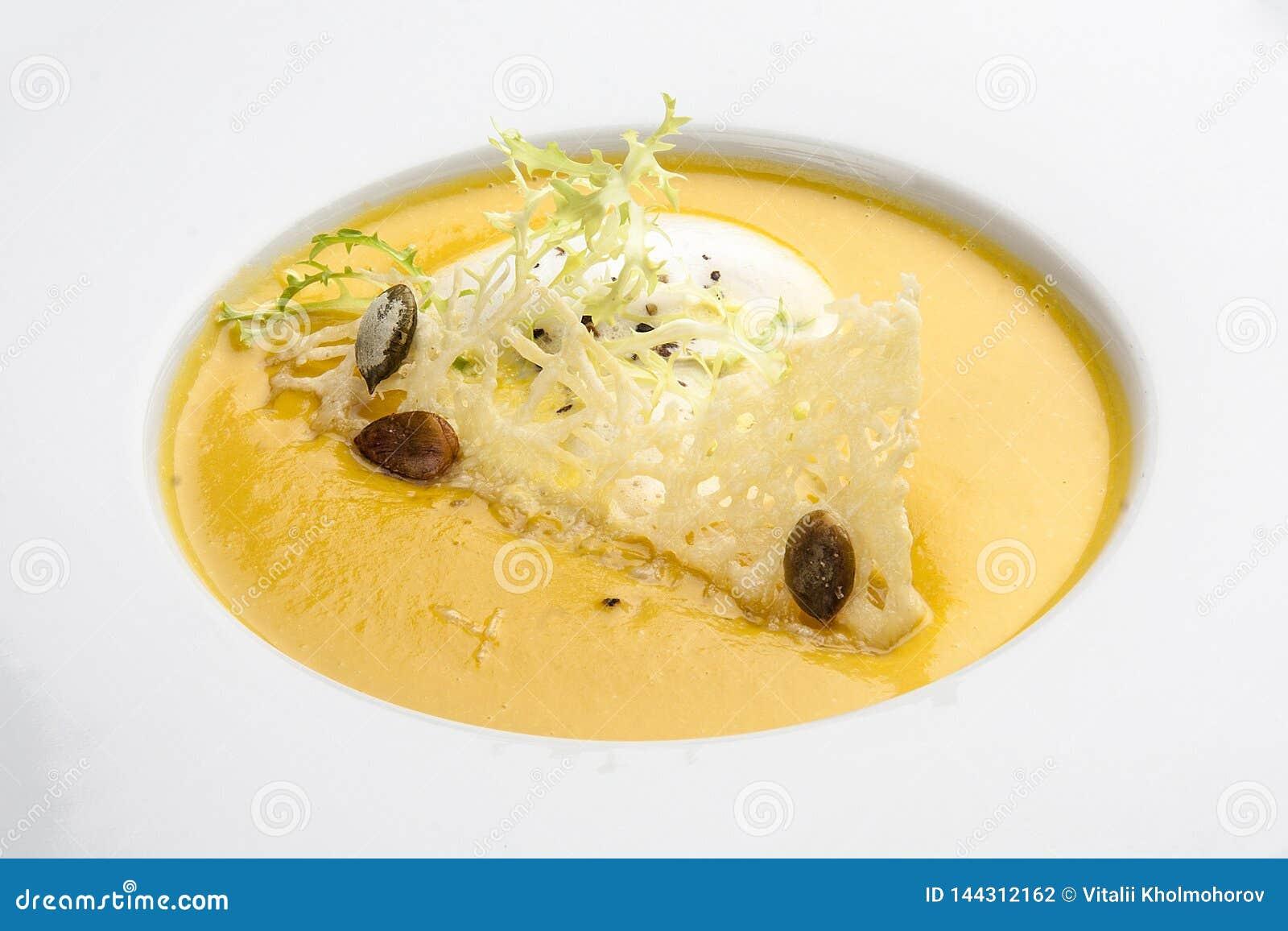 Pumpakrämsoppa med parmesanost