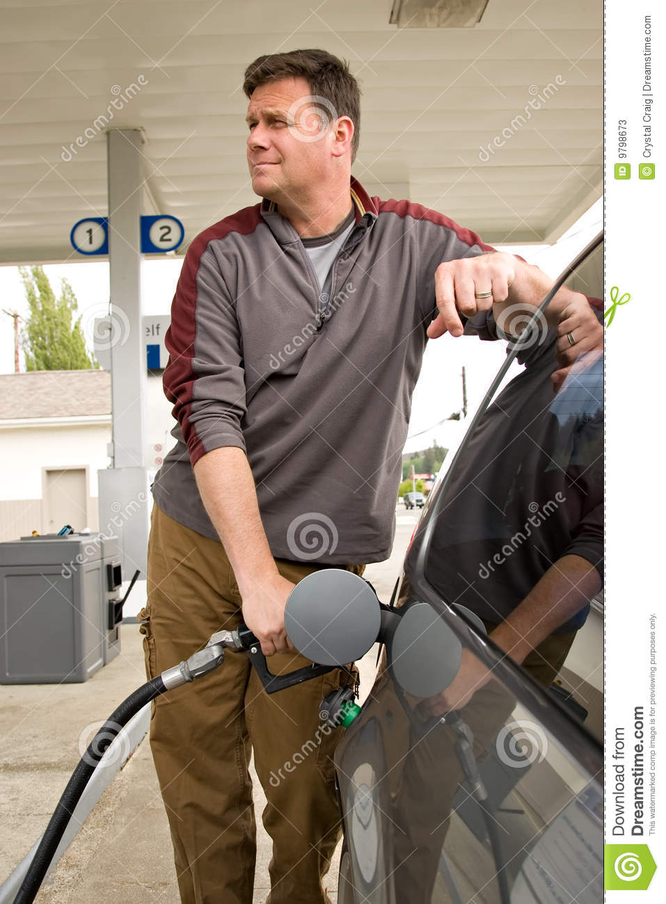Pumping Gas At The Gas Station Stock Photos Image 9798673