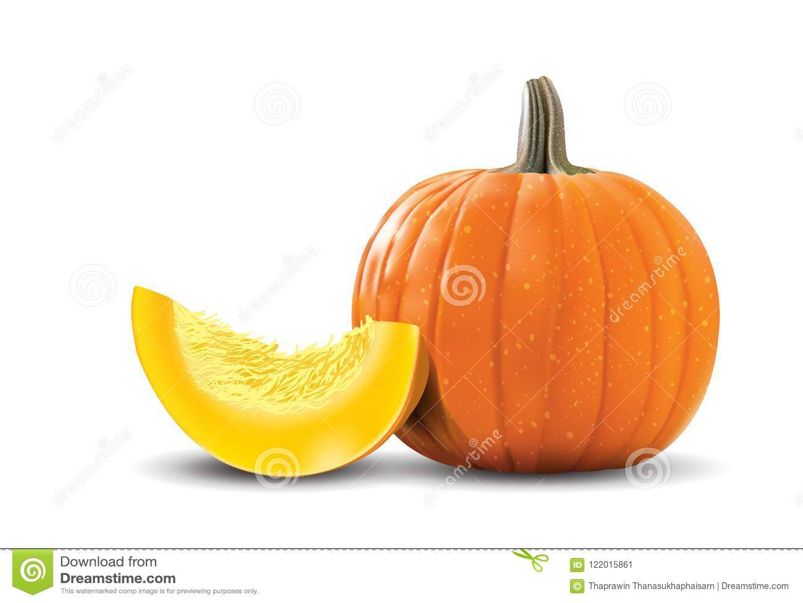 Halloween Pumpkin Vector Art.Orange Pumpkin In Vector Art Stock Illustration