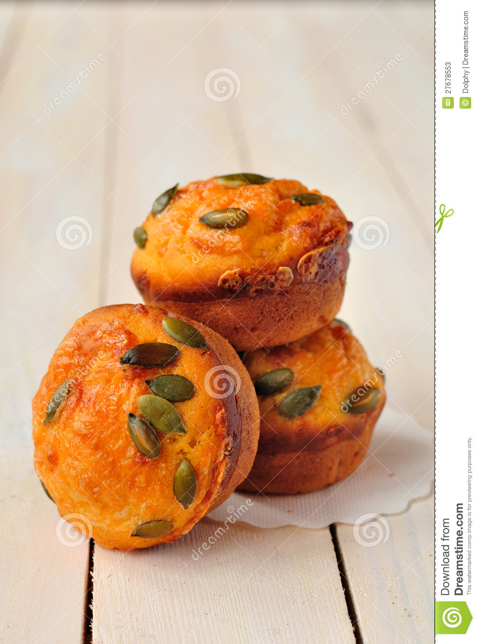 Pumpkin And Cheese Muffins Stock Photos - Image: 27678553
