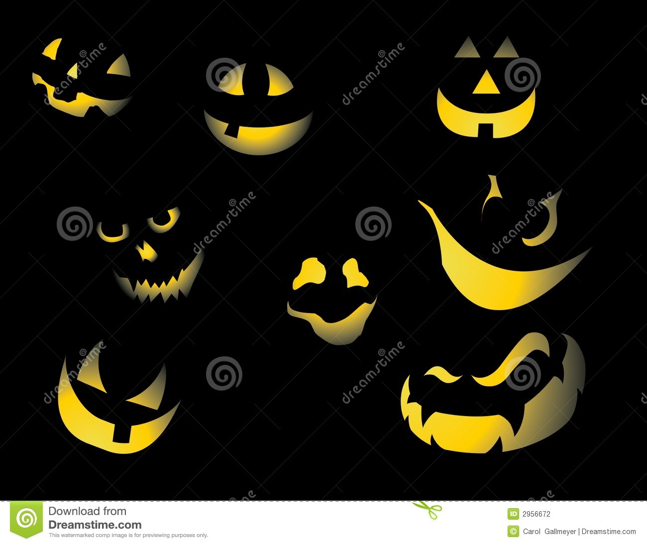Pumpkin Faces Stock Photography Image 2956672