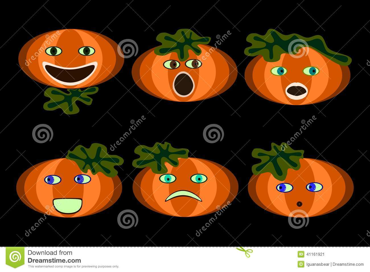Pumpkin faces stock illustration image of screaming for Funny pumpkin drawings