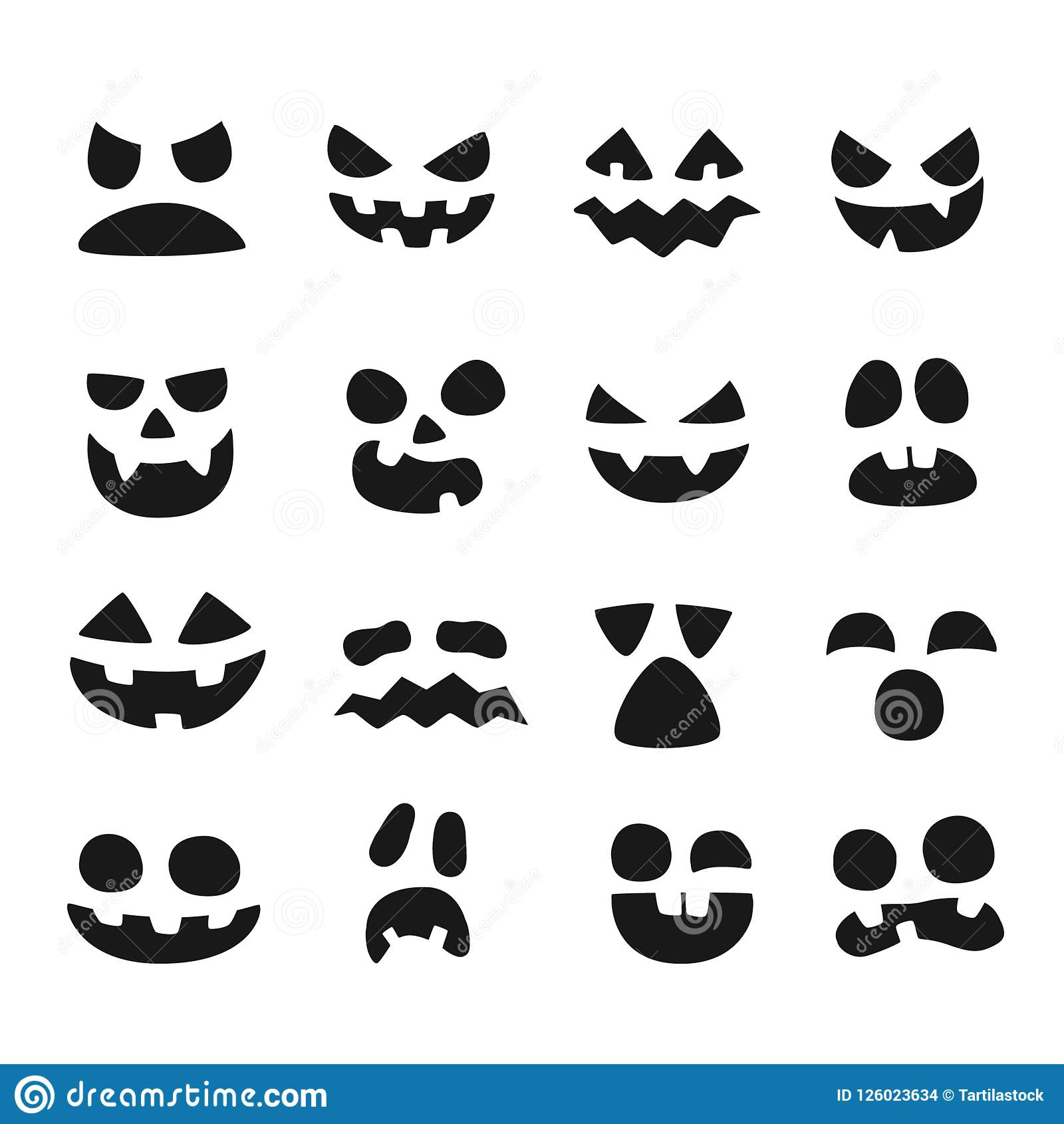 Pumpkin Faces Halloween Evil Devil Face Scary Smile Mouth Spooky