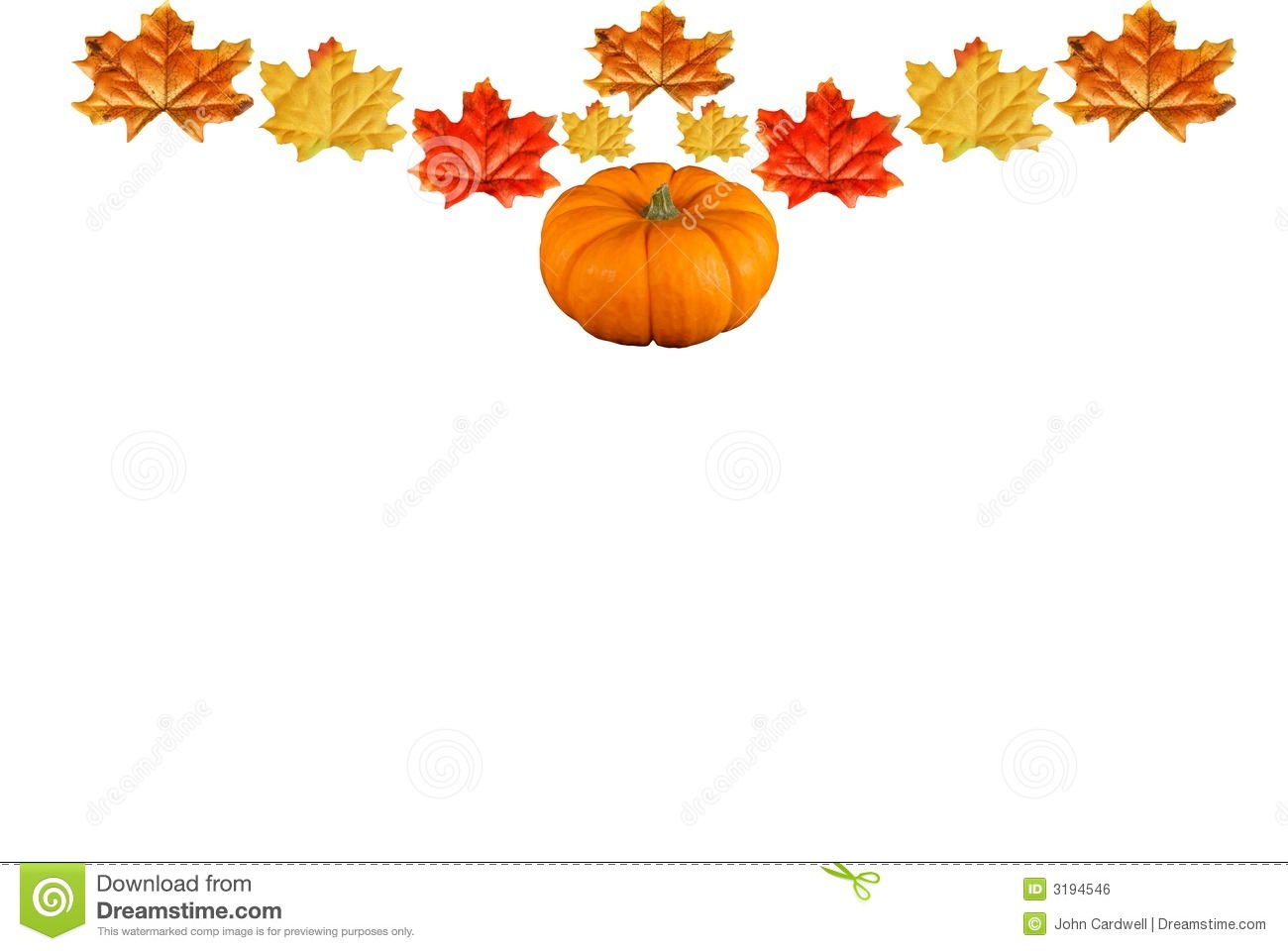 Pumpkin With Fall Leaves Royalty Free Stock Image - Image ...