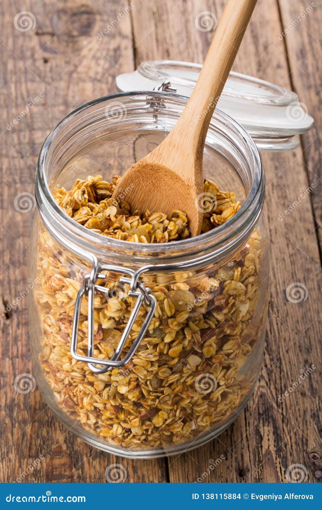 Pumpkin granola Homemade muesli.