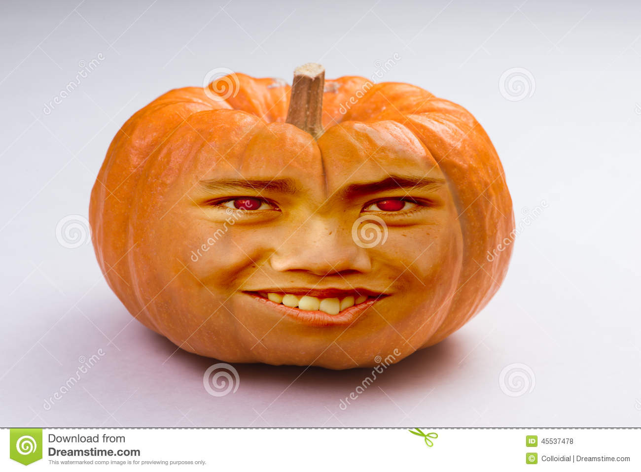 pumpkin head stock photo image 45537478