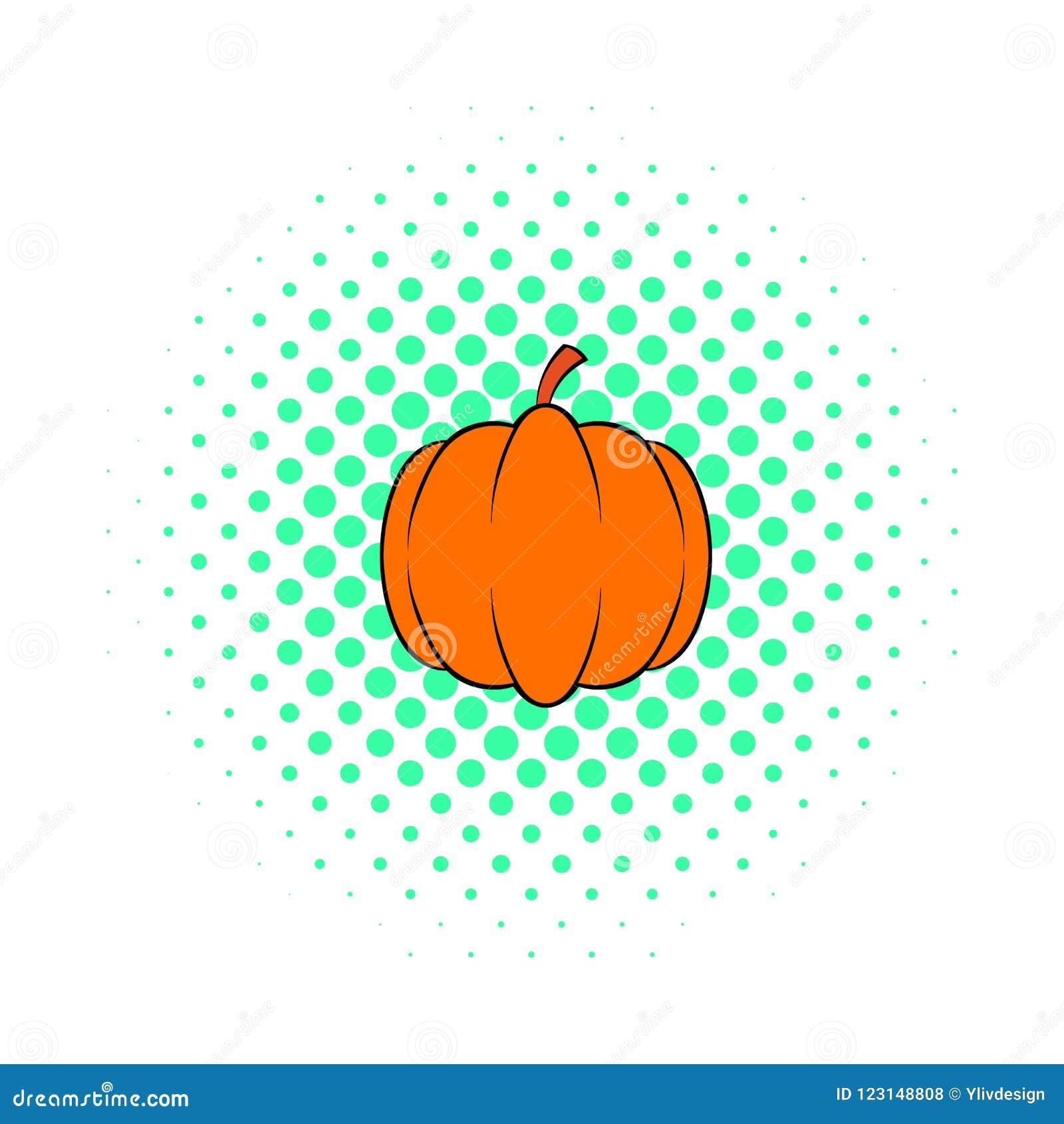 Pumpkin Icon Pop Art Style Stock Illustration Illustration Of