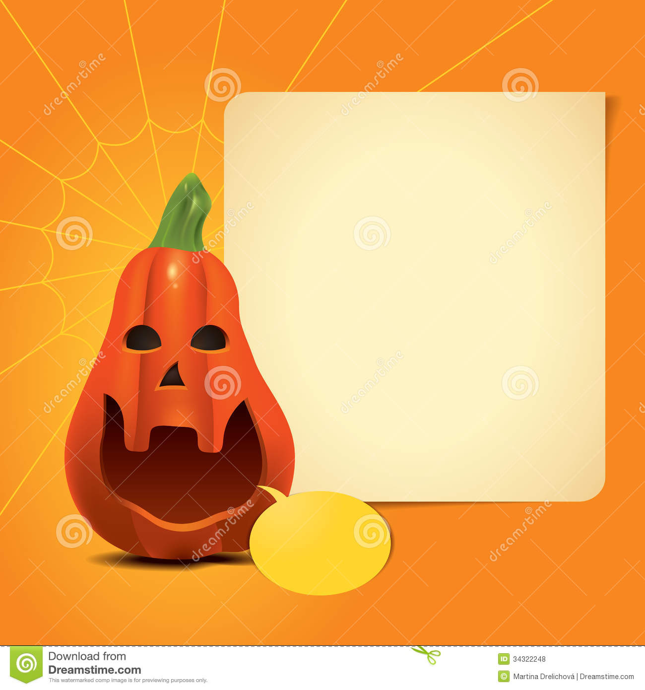 orange invitation paper