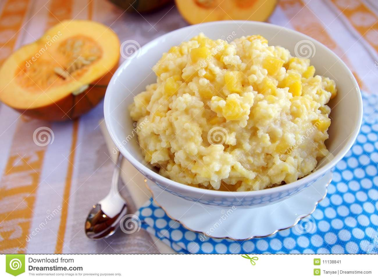 Traditional russian cuisine dish - millet porridge with pumpkin ...