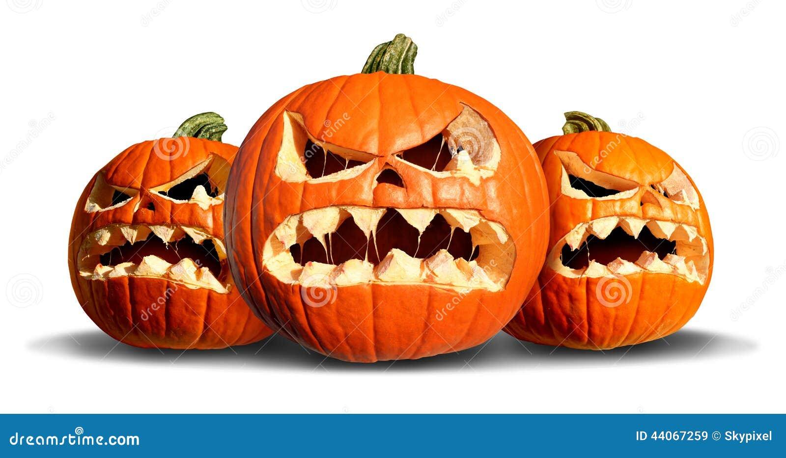 Pumpkin Monster Group Stock Illustration - Image: 44067259