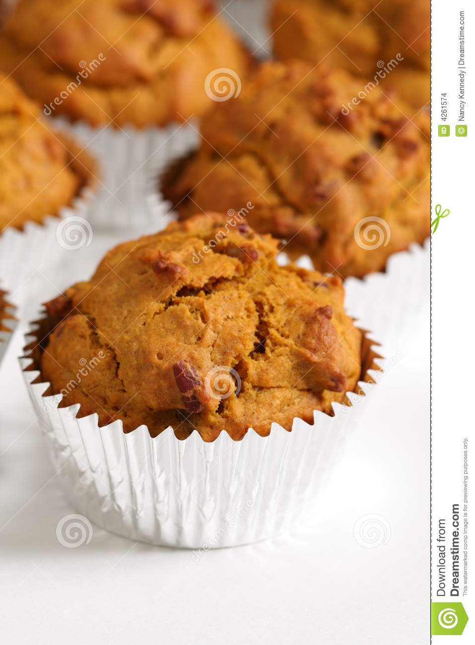Pumpkin Nut Muffins Stock Images - Image: 4261574