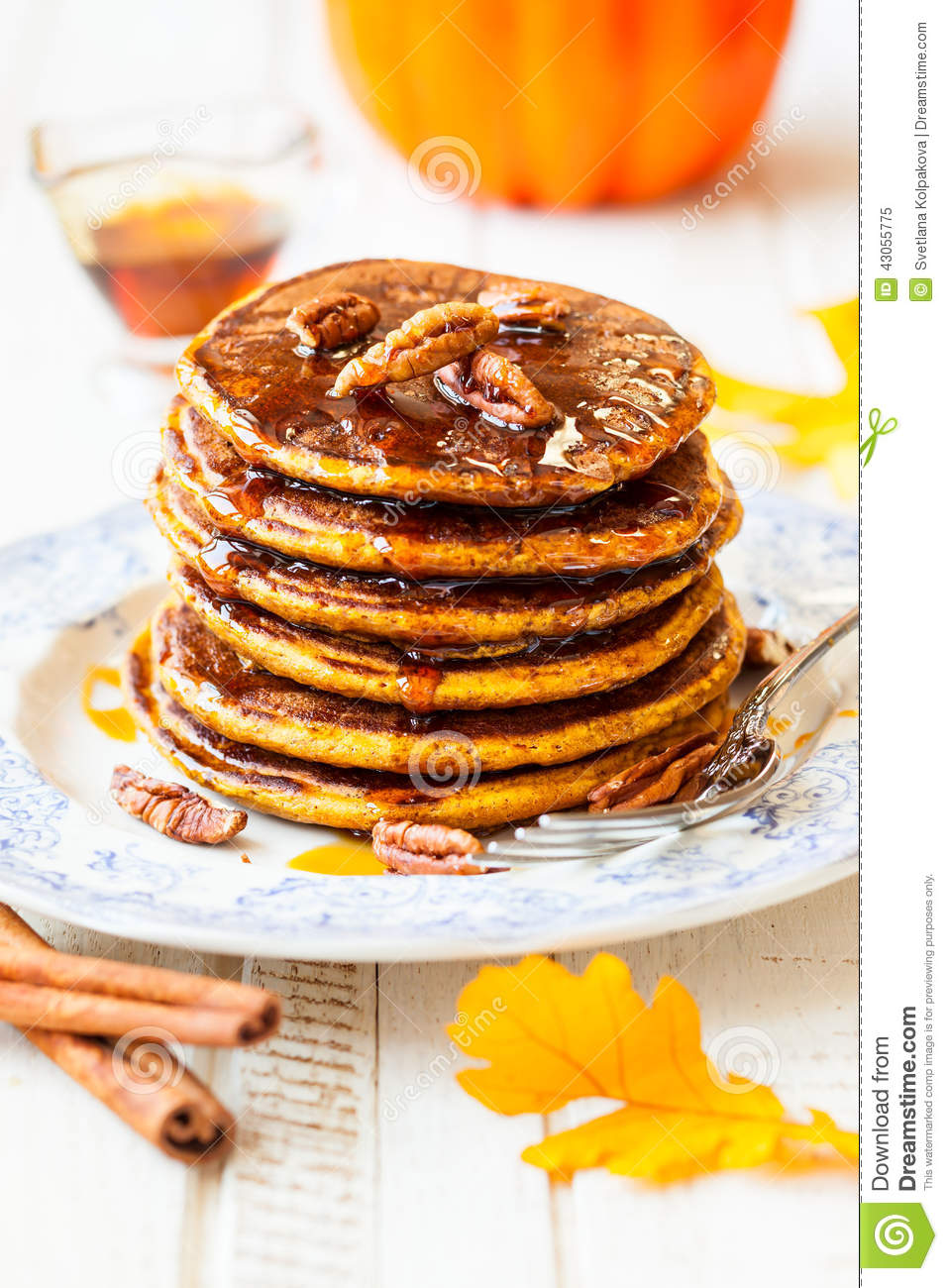 Pumpkin Pancakes Stock Photo - Image: 43055775