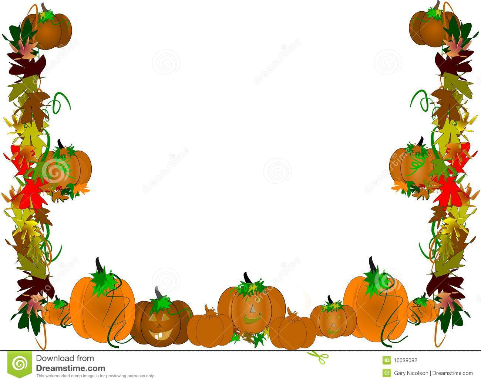 Vine border clip art 298 x 279 16 6Kb Pumpkin patch border 1300 x 1053