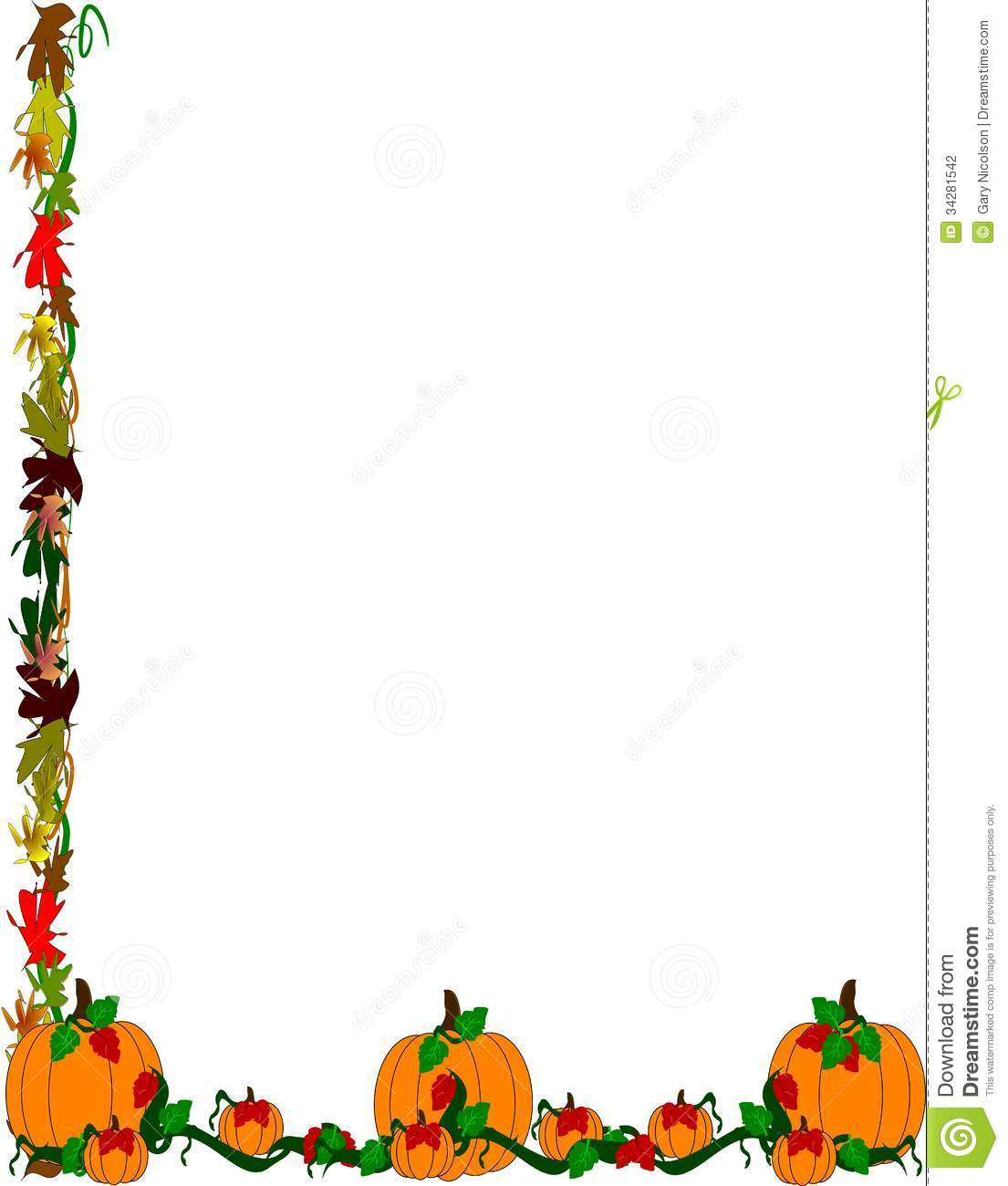 pumpkin patch border stock photography image 34281542 scarecrow clipart pinecrest scarecrow clip art free black and white