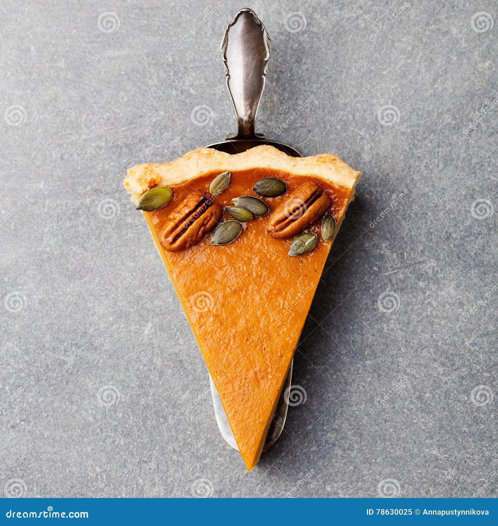 Pumpkin pie, tart made for Thanksgiving day.