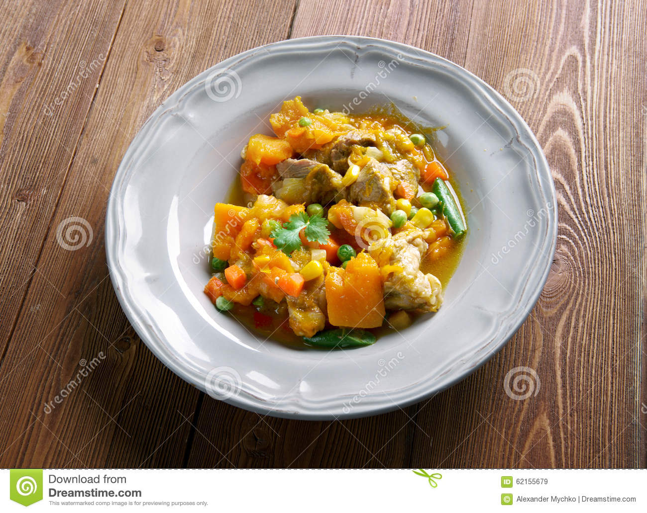 Pumpkin Pork Stew Stock Photo - Image: 62155679