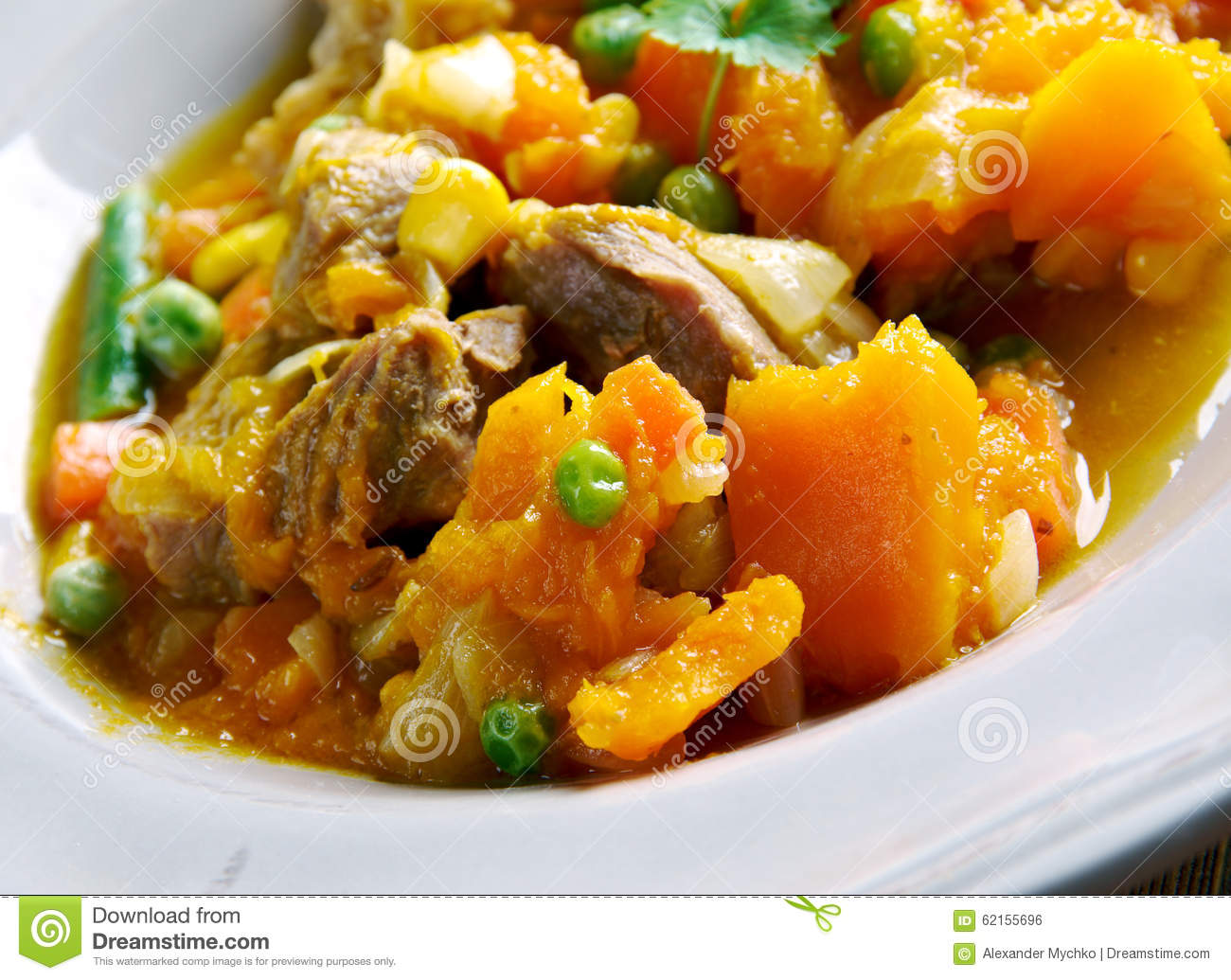 Pumpkin Pork Stew Stock Photo - Image: 62155696