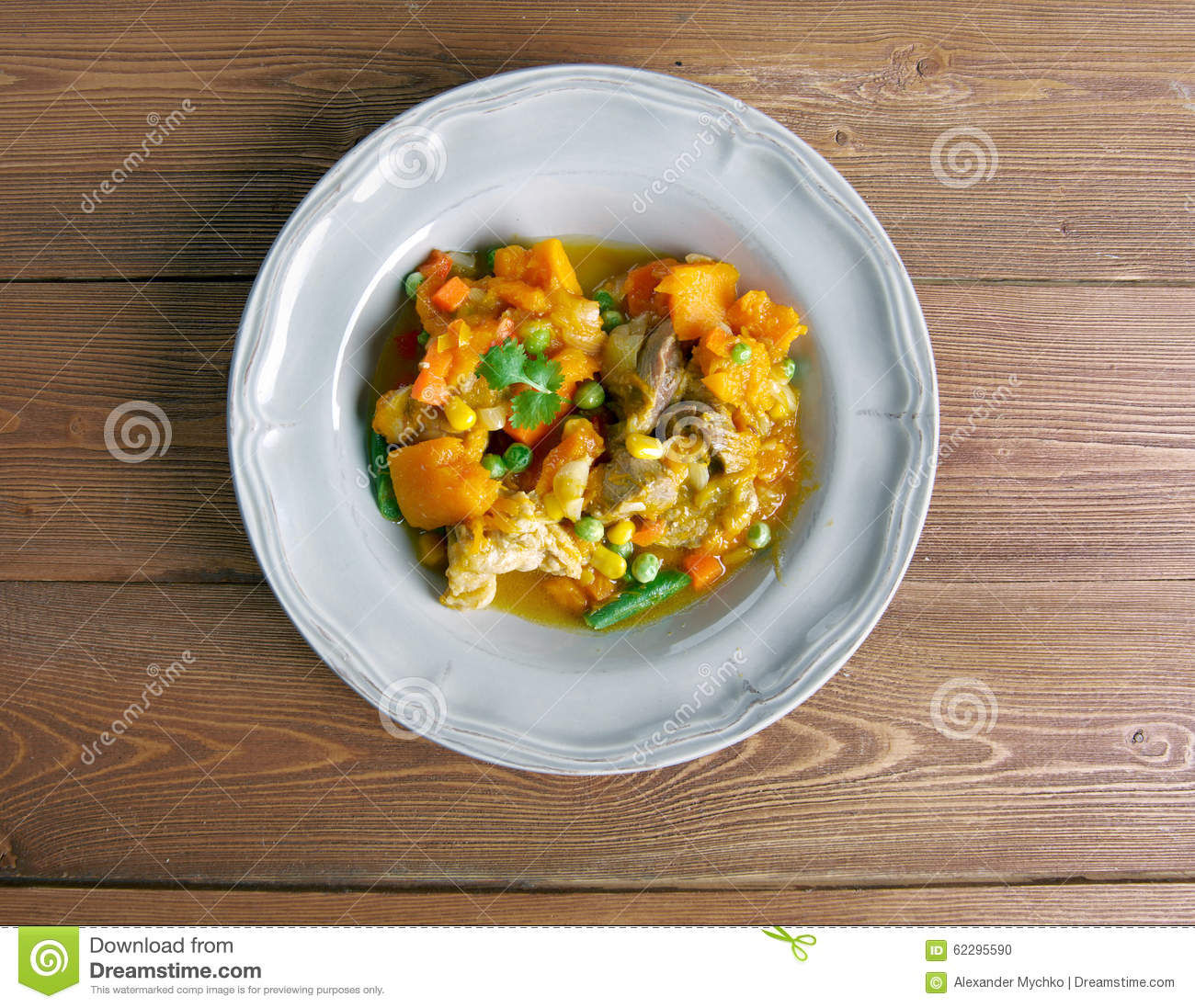 Pumpkin Pork Stew Stock Photo - Image: 62295590