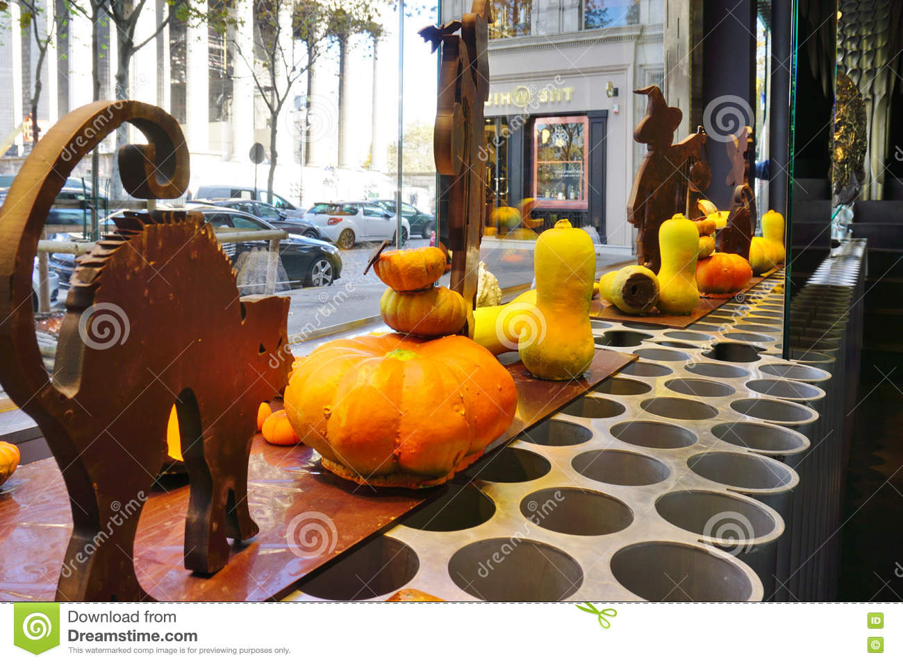 Pumpkin Shaped Gourmet Chocolates In A Patrick Roger Store In ...