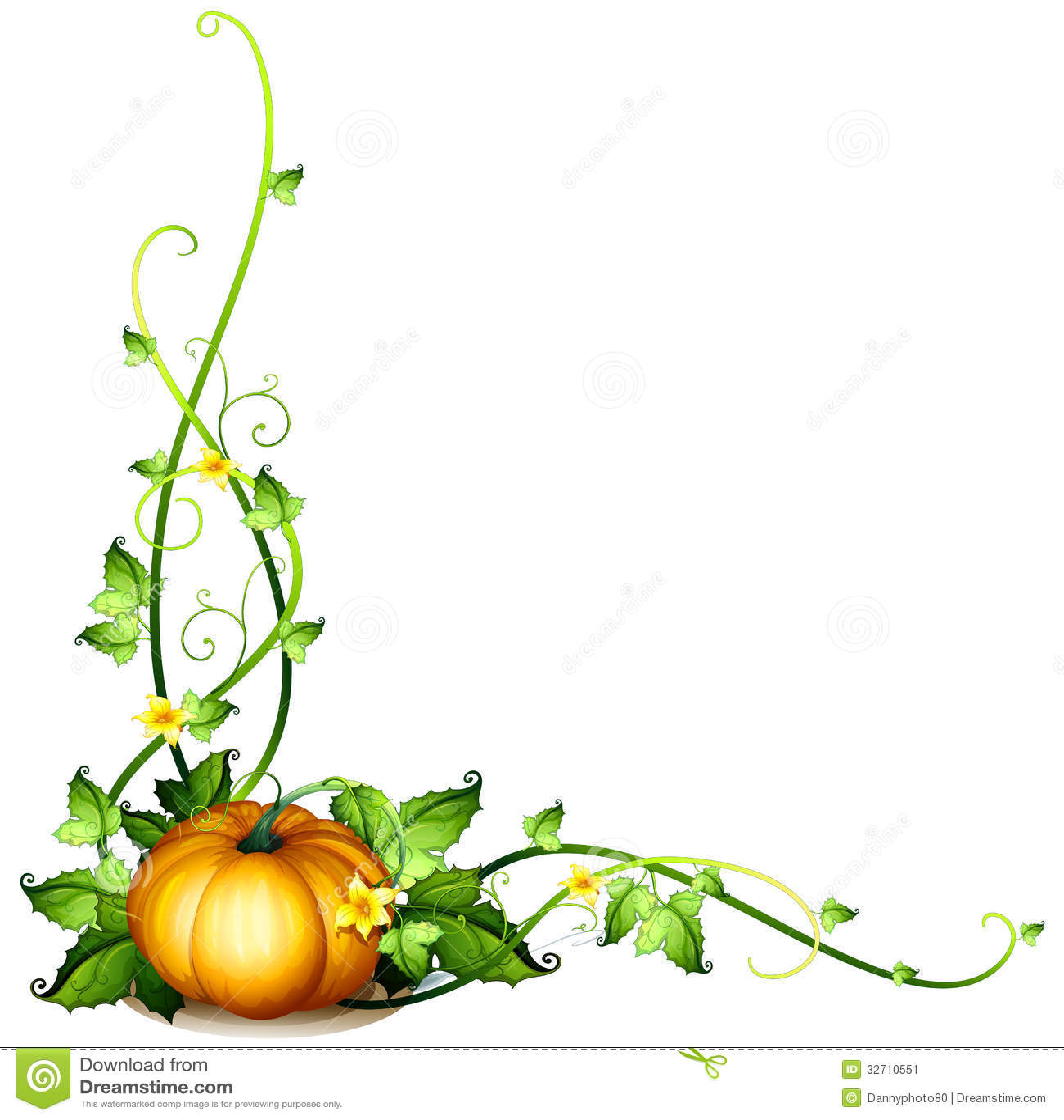 Pumpkin vine decor stock image image 32710551