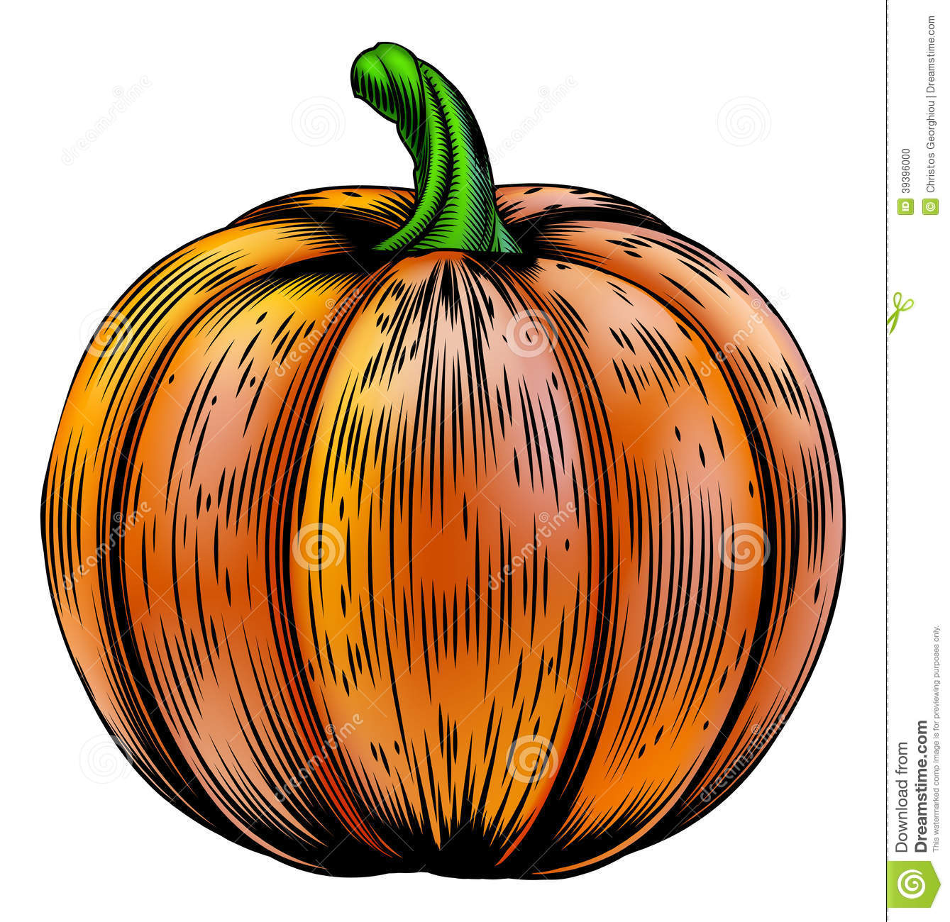 vintage pumpkin clip art - photo #10