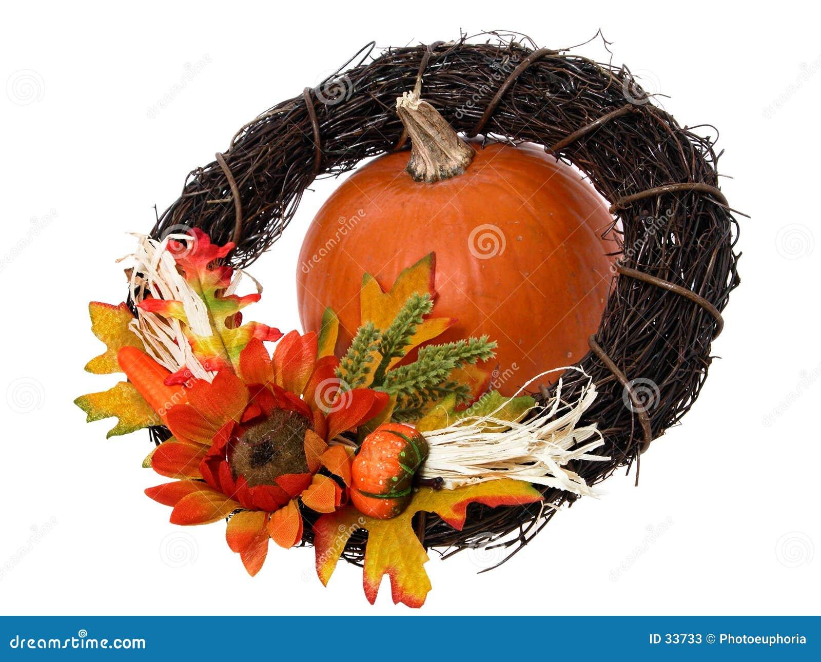 Pumpkin & Wreath