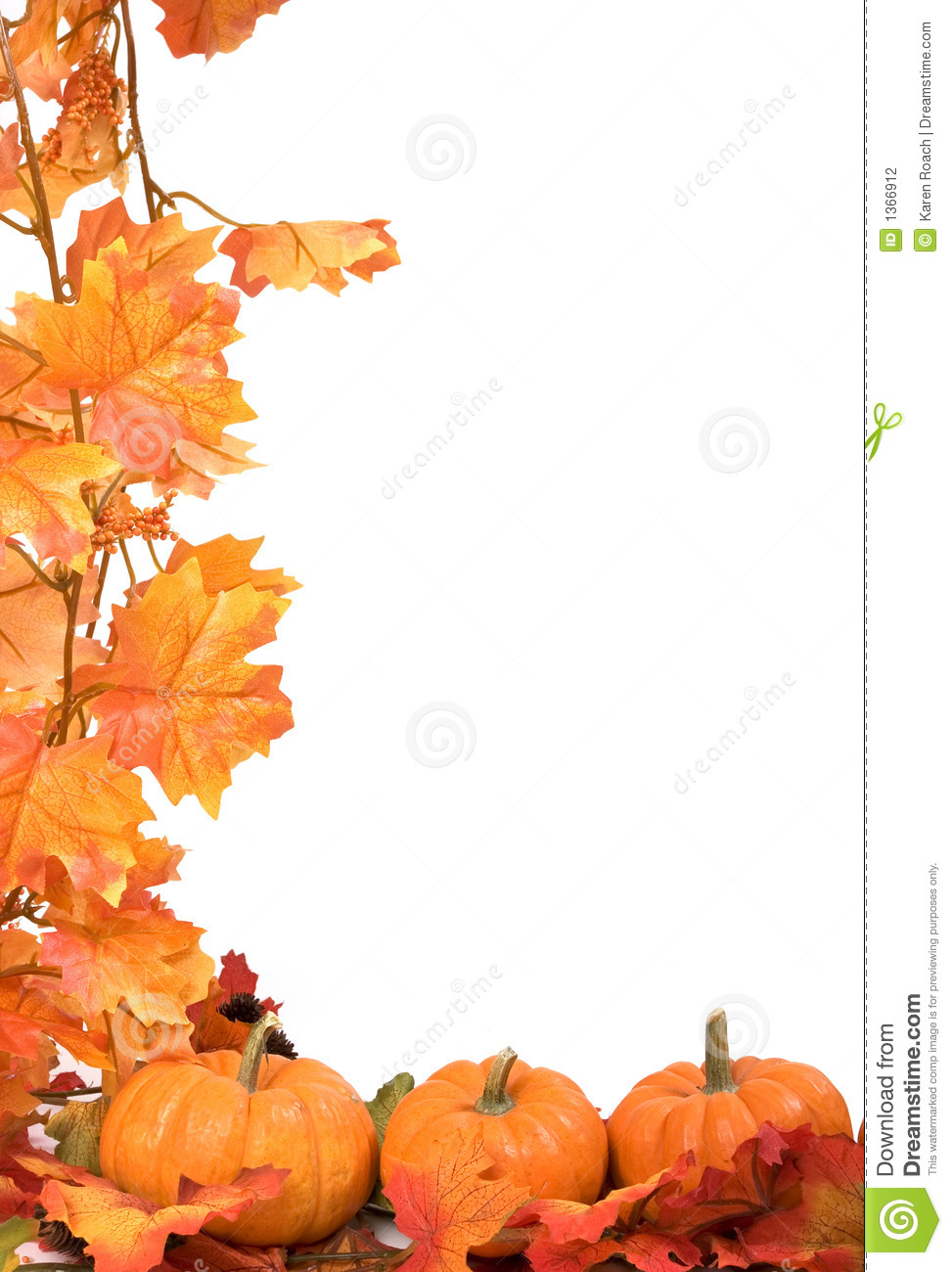 Pumpkins With Fall Leaves Stock Photography - Image: 1366912