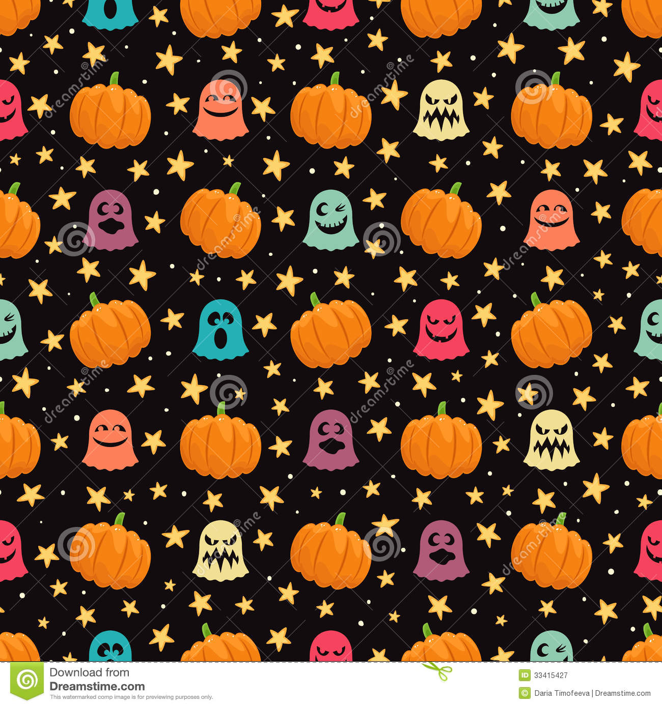 Pumpkins and ghosts stock vector. Image of abstract, illustration ...