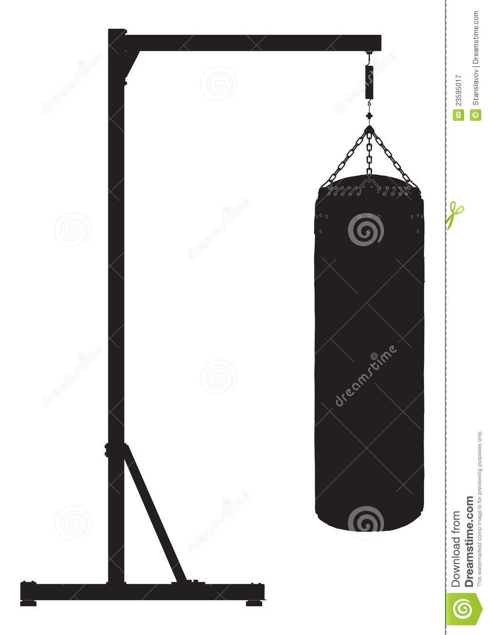 Punch Bag Outline Silhouette Royalty Free Stock