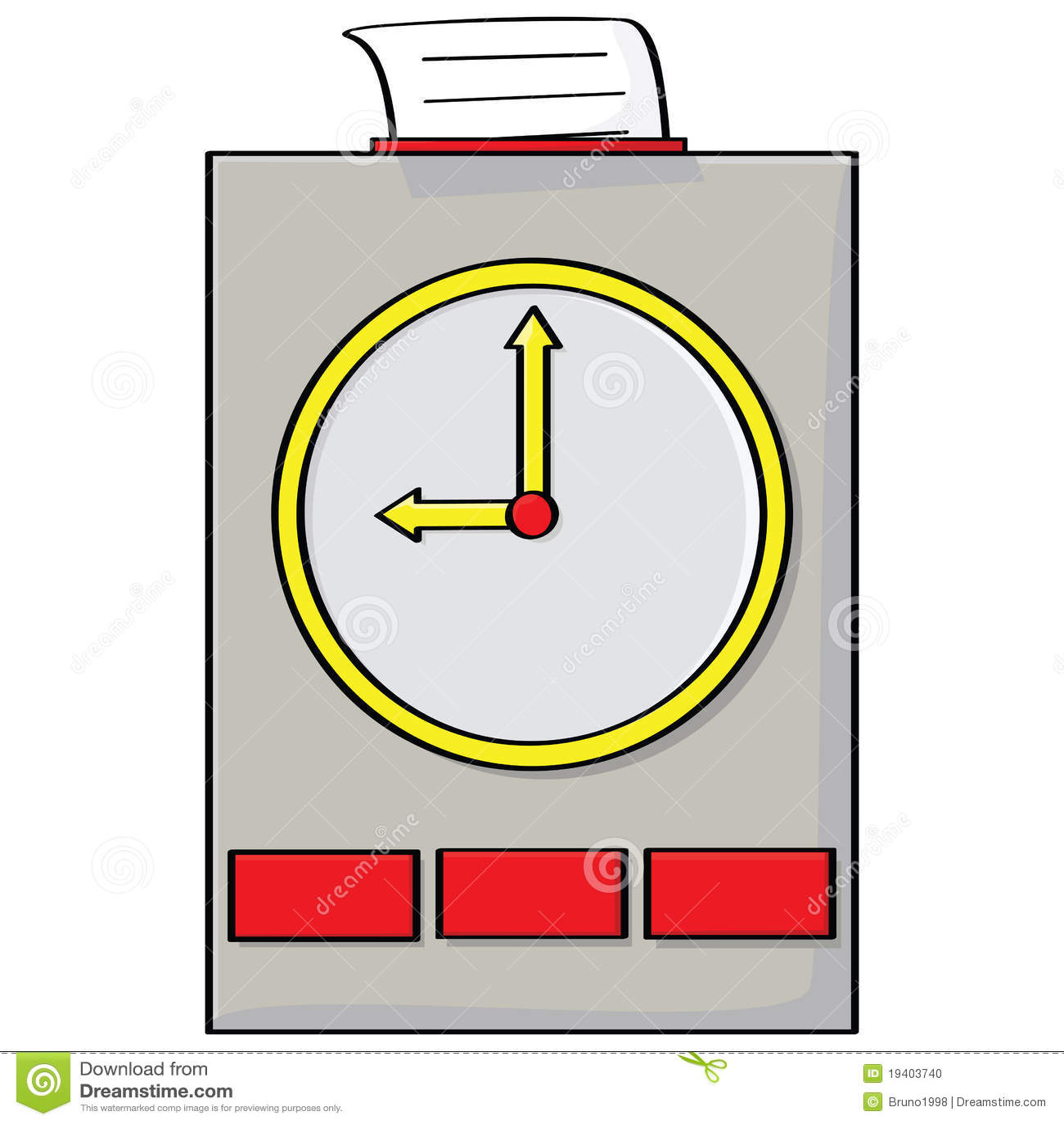 Punch Clock Stock Photo Image 19403740