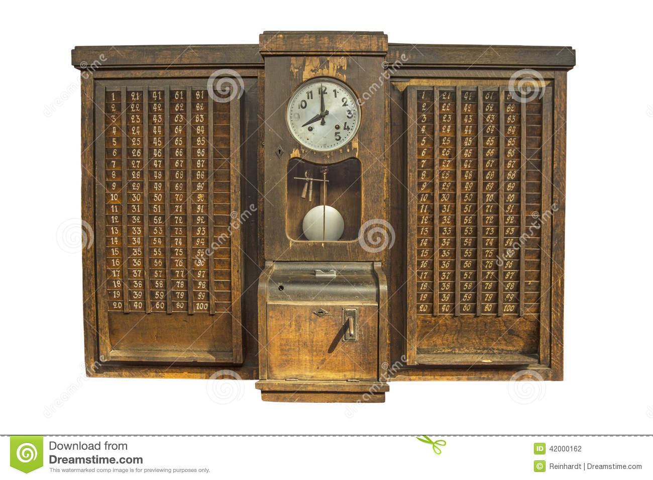 Punch Clock Time Recorder Stock Photo Image 42000162