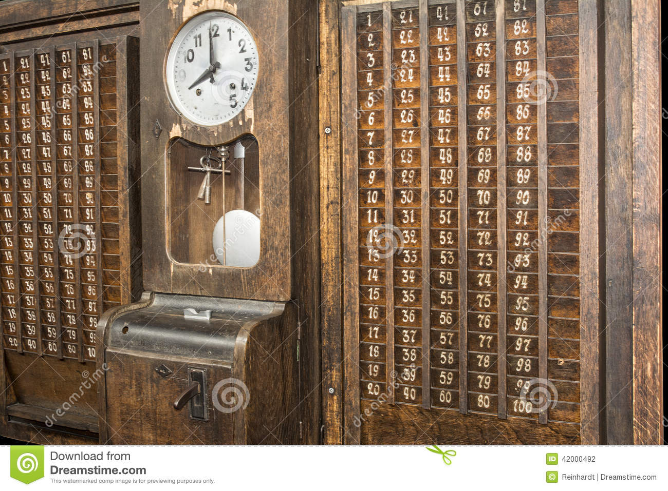 Punch Clock Time Recorder Stock Photo Image 42000492