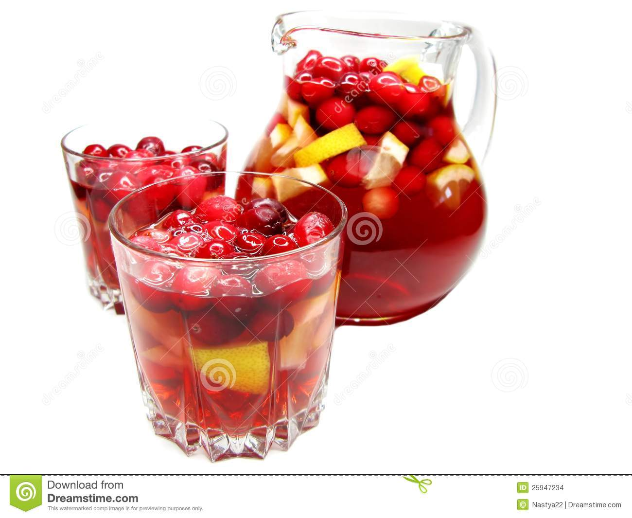 Punch Cocktail Drink With Fruit Stock Images Image 25947234