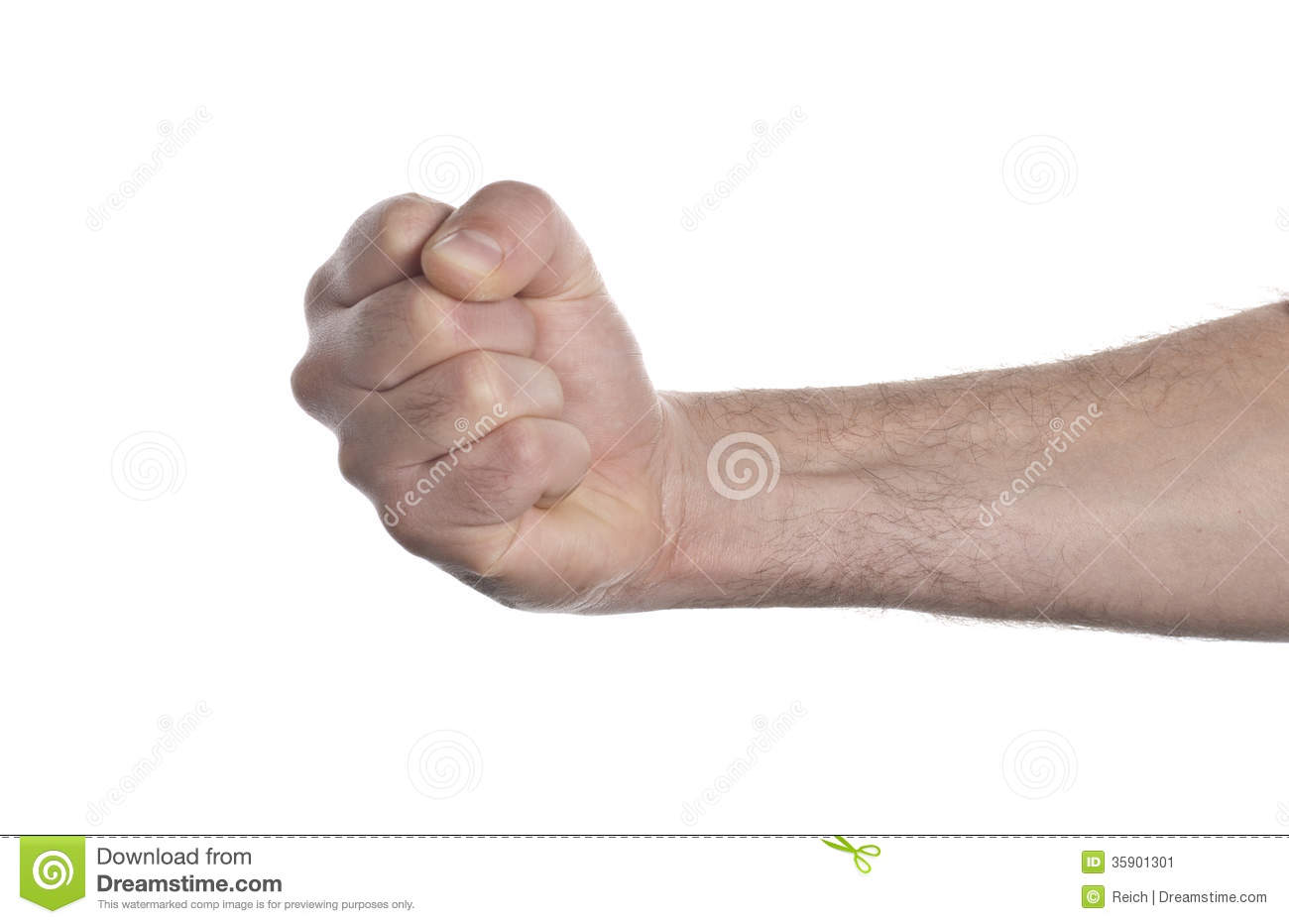 Punch fist isolated on a white background.