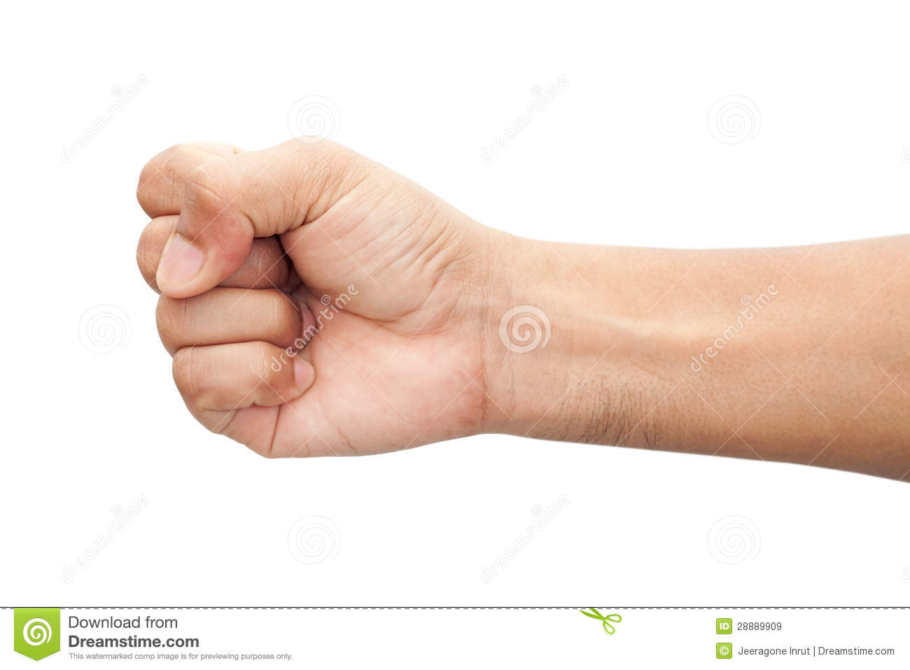 Punch Fist Of A Man Royalty Free Stock Images Image