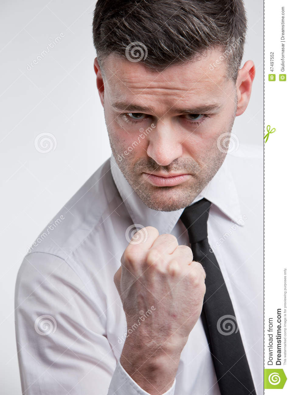 Punch threat by angry dangerous man