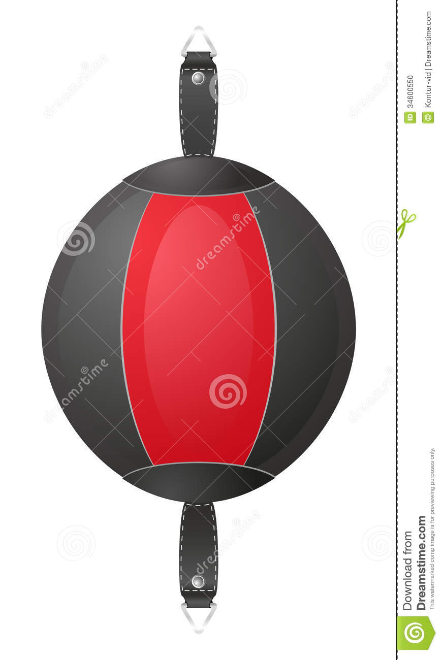Punching Bag For Boxing Vector Illustration Stock Photo ...
