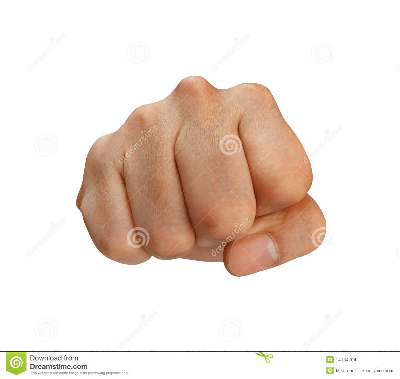 Punching Fist With Clipping Path