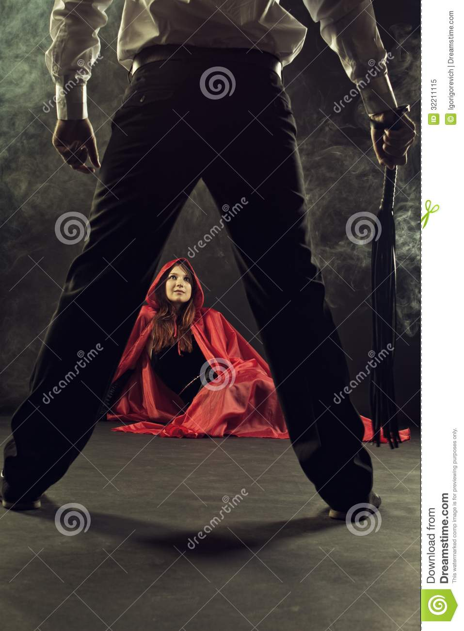 Punishment Of Red Riding Hood Stock Image Image 32211115