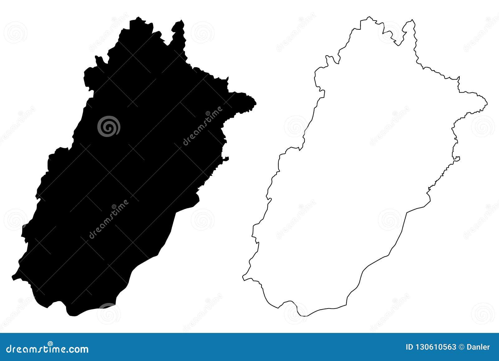 Punjab map vector stock vector  Illustration of oblast