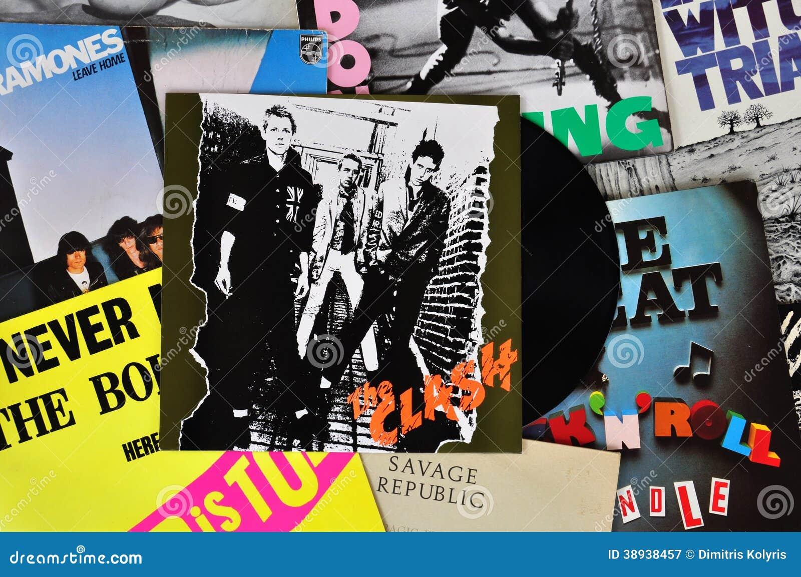 Punk Vinyl Records Editorial Photography Image 38938457