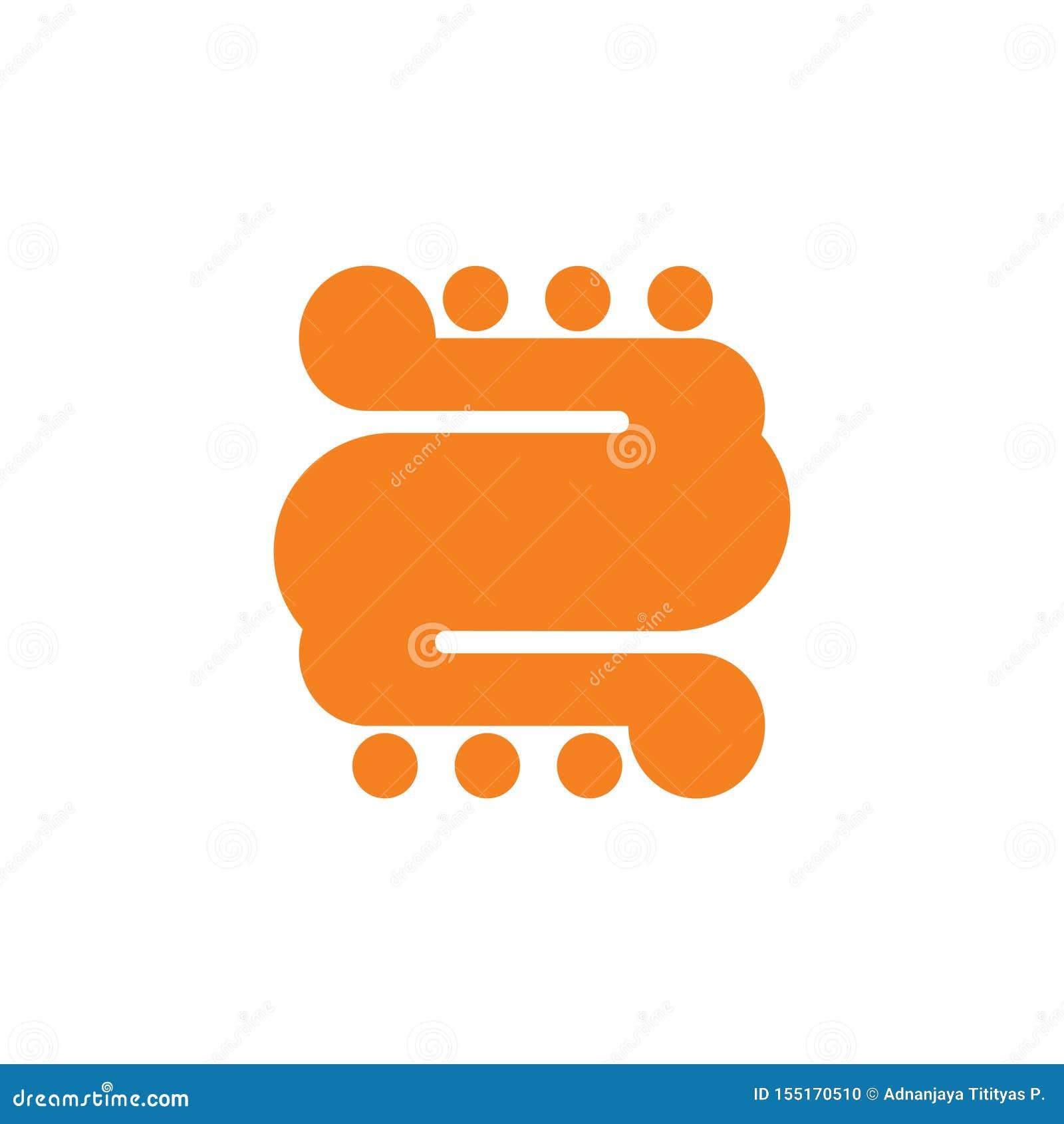 Punkt-Logovektor der Kurven der Nr. 2 geometrischer