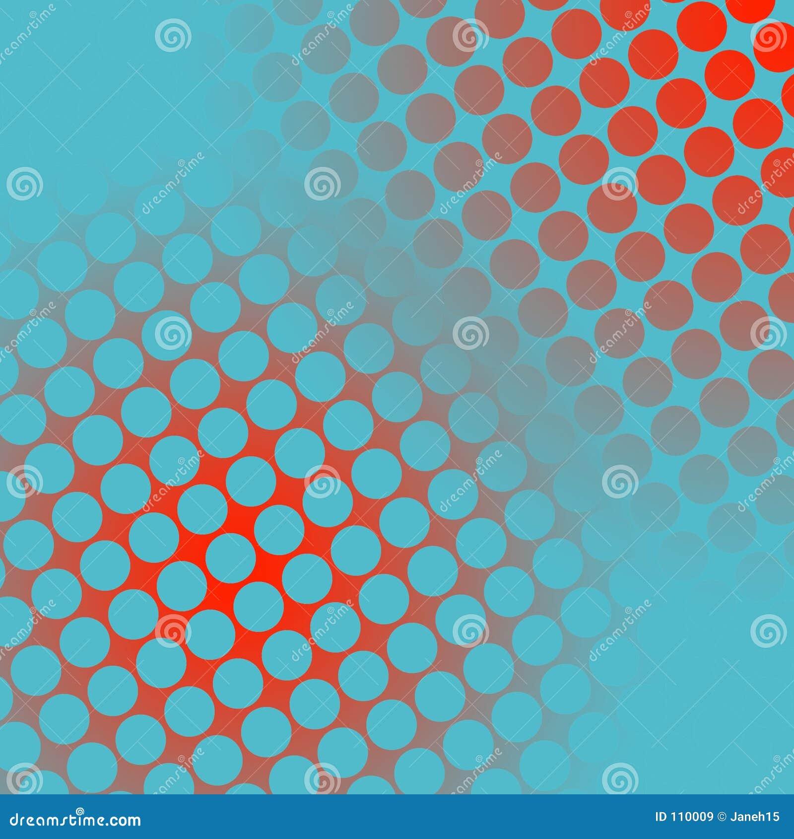 Punkte auf Rotem und Blauem
