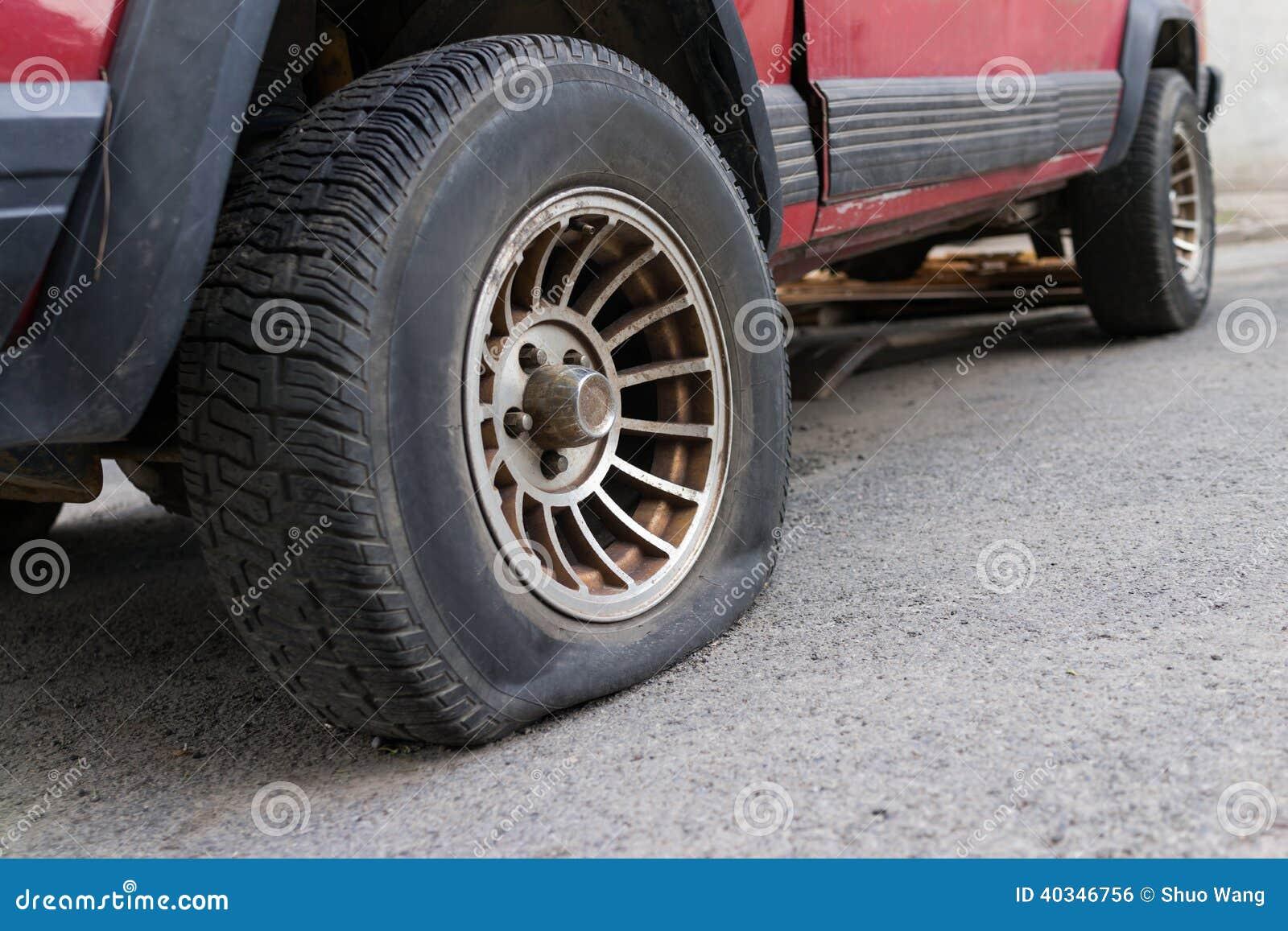 Punkterat däck