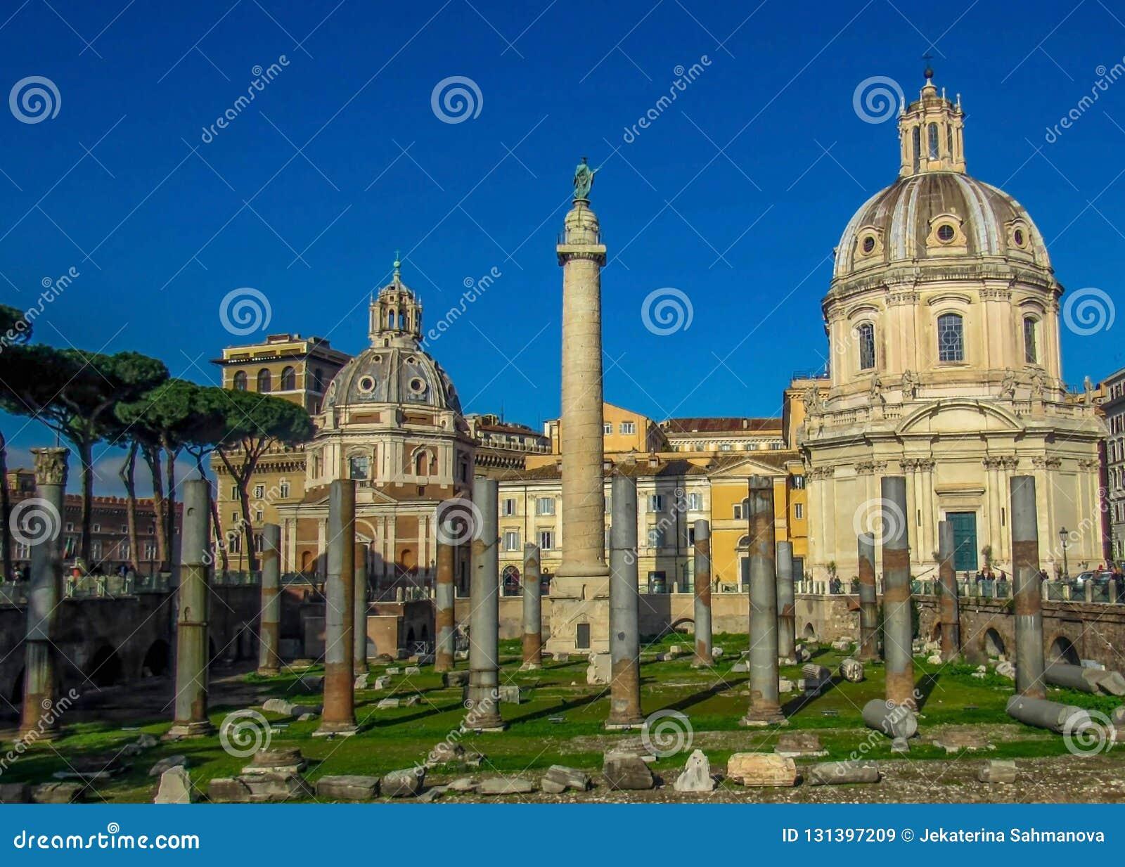 Punkty zwrotni i historyczne ruiny w Rzym, Włochy