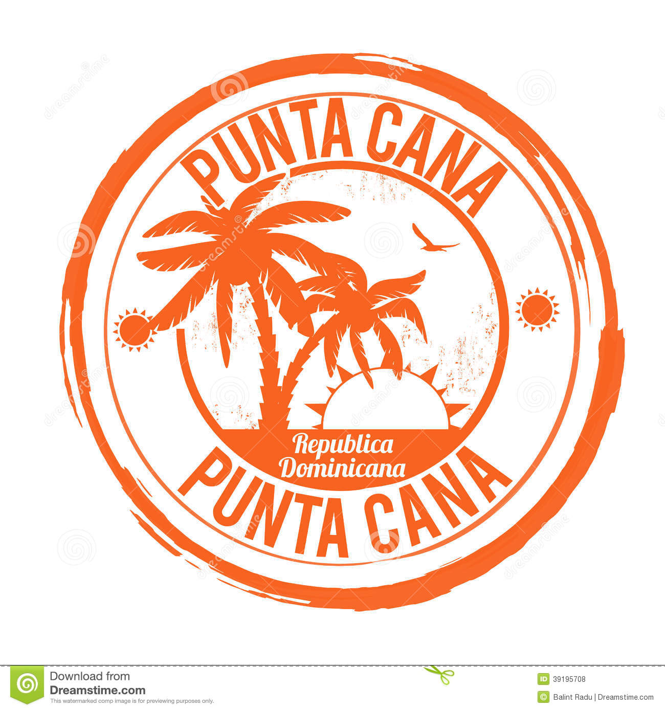 Punta Cana grunge rubber stamp on white, vector illustration.