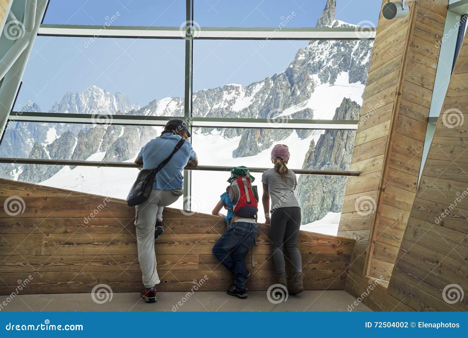 Punta Helbronner von Skyway, Monte Bianco-Anschluss, Courmayeur