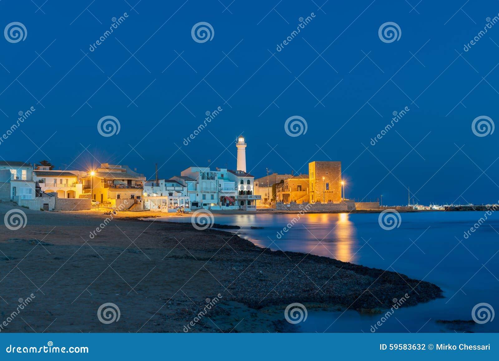 Punta Secca an der blauen Stunde