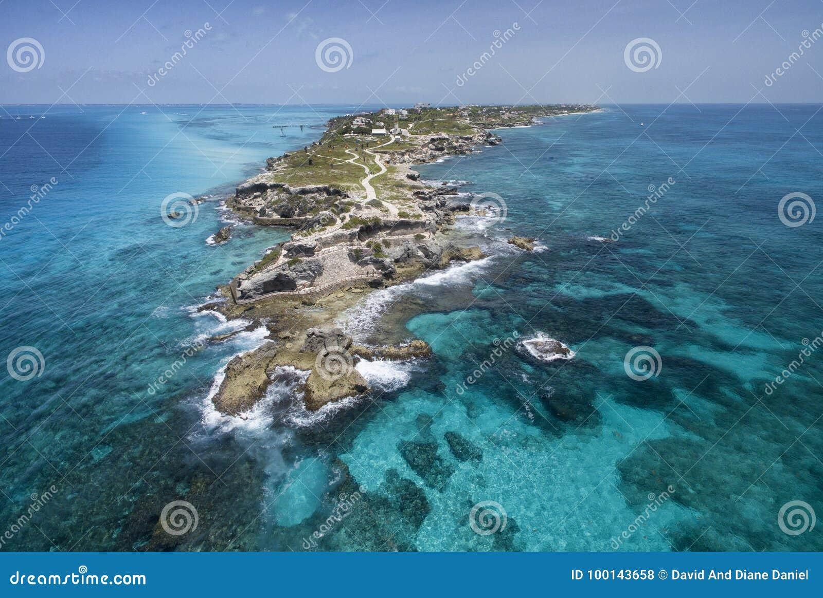 Punta Sura Isla Mujeres - widok z lotu ptaka